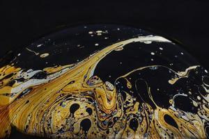 prachtige psychedelische abstracties op de oppervlakte zeepbellen foto