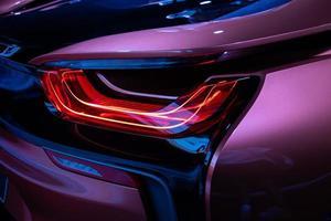 de close-up terug rood achterlicht auto foto