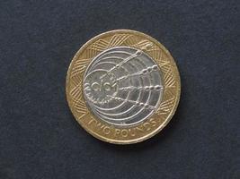 2 pond munt, verenigd koninkrijk foto