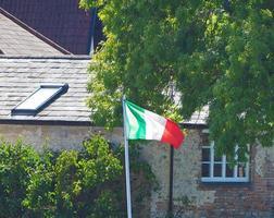 italiaanse vlag van italië foto