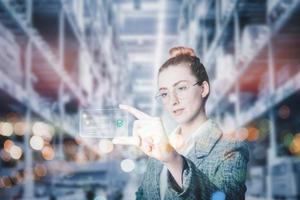 futuristische innovatie technologie intelligentie online betaling foto