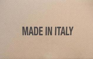 gemaakt in Italië op pakket foto
