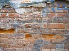 retro vintage baksteen oude muur textuur achtergrondafbeelding foto