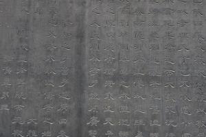 kalligrafie stenen tabletten in xian forest of stone steles museum, china foto