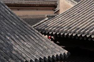 pannendak in tianshui volkskunstmuseum hu shi volkshuis, gansu china foto