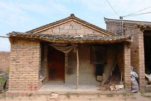 chinees oud architectuur retro huis in tianshui, gansu china foto