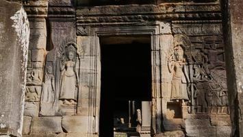 steen rots snijkunst bij bayon tempel, siem reap cambodja foto