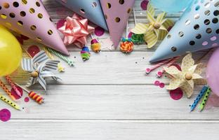 gelukkige verjaardag of feest achtergrond foto