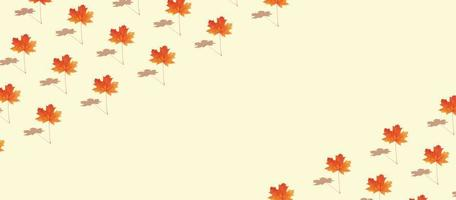 herfst creatief patroon met esdoornblad foto