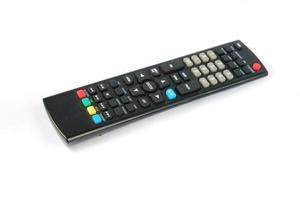 tv-afstandsbediening geïsoleerd op een witte achtergrond, uitknippad foto