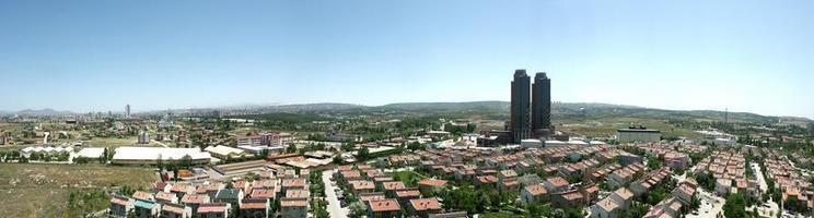 panoramische beelden van de hoofdstad van turkije, ankara. foto