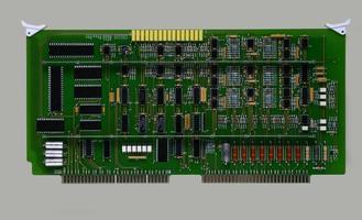 elektronische kaart voor computer en elektronische regeleenheden. foto