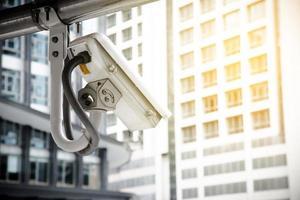 cctv-camera gebruikt voor het beschermen van criminelen in de metropool foto