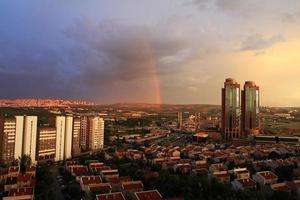 turkije's hoofdstad ankara na de regen foto