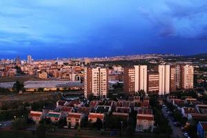 het nachtzicht van Ankara, de hoofdstad van Turkije foto