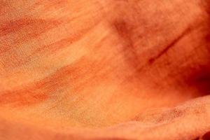 oranje linnen stof textuur achtergrond foto