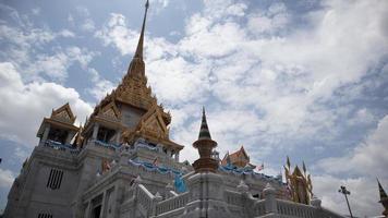 tempel van thailand in de chinatown-zone. foto