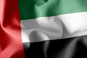 3D-rendering illustratie vlag van verenigde arabische emiraten foto
