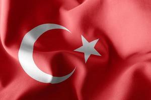 3D-rendering illustratie vlag van Turkije. foto