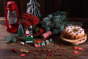 traditionele kerst cranberrytaart foto