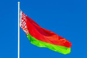 vlag van wit-rusland foto