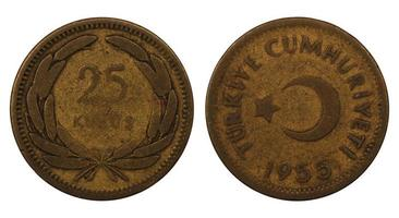 munten van de republiek turkije foto