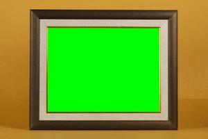 leeg frame gemaakt van hout of kunstmatig materiaal. foto