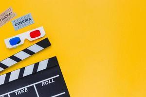 Filmklapper met 3D-bril foto