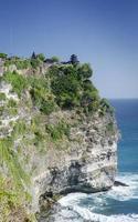 uluwatu oude mijlpaal klif Balinese hindoe-tempel in Bali Indonesië foto