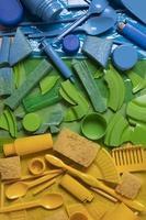 het vervuilingsconcept plastic afval foto