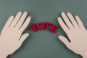 bovenaanzicht papierstijl stemassortiment foto