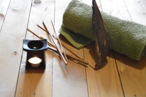 spa artikelen voor sauna en ontspanning foto