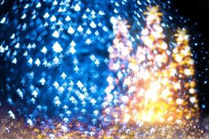 kerstboom wazig bokeh foto