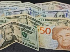 waarde in de wisselkoers tussen Zweeds en Amerikaans geld foto