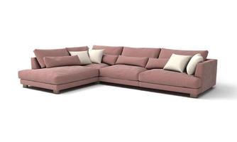 bank uitzicht meubels 3D-rendering foto