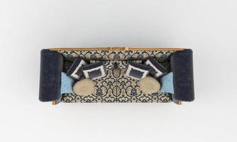 bank bovenaanzicht meubels 3D-rendering foto