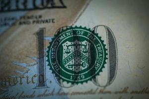 benjamin franklin op Amerikaanse dollar - usd foto