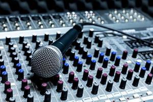professionele condensator studiomicrofoon foto