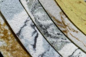 set van verschillende decoratieve stenen voor design, interieur en exterieur foto