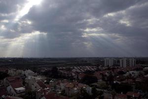 geweldige stadsgezichten van Israël, uitzicht op het heilige land foto