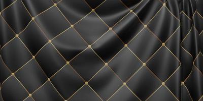 sierlijke vlag plooien golven van stof structuurpatroon dynamische curve bar 3d illustratie foto