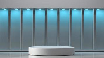 3D-gerenderde podium in interieur achtergrond foto