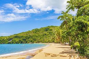 groot tropisch eiland ilha grande praia de palmas strand brazilië. foto