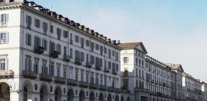 piazza vittorio plein in turijn foto