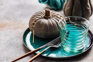 herfst tafel setting foto