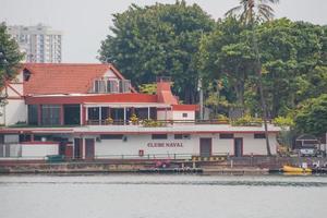 marineclub in lagoa rodrigo de freitas in rio de janeiro, brazilië foto