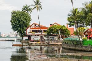 rio de janeiro, brazilië, 2015 - marineclub in de lagune van rodrigo de freitas foto