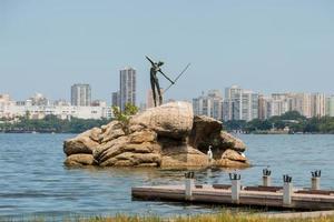 rio de janeiro, brazilië, 2015 - rodrigo de freitas lagune foto
