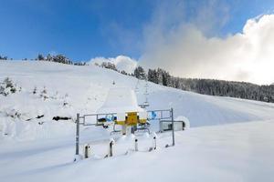 skiliften gesloten om de covid 19 pandemie te bestrijden foto
