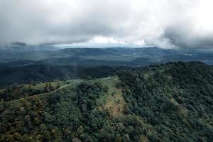 bergen en groene bomen gedurende de dag foto